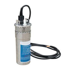 ECO-WORTHY 24V DC Acier inoxydable Pompe à eau submersible à eau solaire 230 '/ 70m Ascenseur