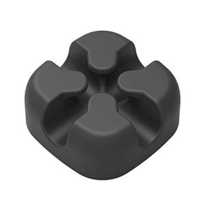 LeeMon 5Pcs Organisateur de Bureau Autocollant pour câble de câble de câble Noir