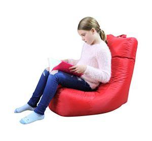 Pouf poire rouge – Intérieur et extérieur – Pour enfants