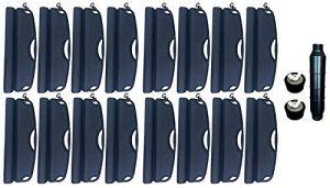 well2wellness Set d'hivernage pour Piscine – 16 flotteurs d'hivernage, 2 Bouchons d'hivernage 38-51 mm + 1 x Gizmo pour Piscine