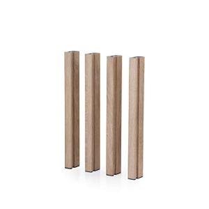 Mondum Pieds en aluminium bois 75 H Méditerranée