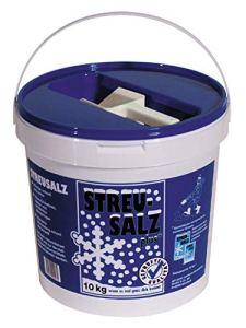 Streusalz Seau de 10 kg avec pelle de sel allemand de qualité supérieure