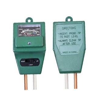Aisoway 3 en 1 Hygromètre Plantes Tester Croissance Humidité Intensité Lumineuse Outils D'appareils De Comptage De Jardin