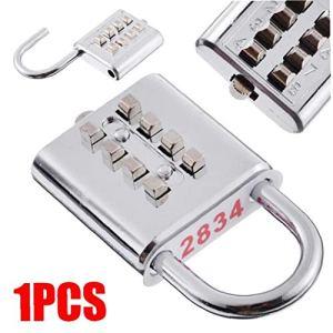 Angoter Chiffres Bouton Poussoir Cadenas à Combinaison Chiffres Password Lock Locker tiroirs Porte Outil matériel de sécurité