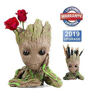 Baby Groot Pot de Fleur – Figurine d'action pour Plantes et stylos du Film Classique – Parfait comme Cadeau – Je s'appelle BÉBÉ Groot