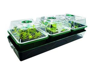 Bio Green HOL 3 Hollandia Serre d'intérieur chauffée avec réservoir d'eau, Blanc/Vert