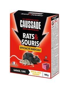Caussade CARSBL180 Anti-nuisibles Rats & Souris Efficacité Radicale – 6 Blocs pour Garage et Cave | Lieux Humides