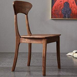 Chaises de salle à manger Comptoir de cuisine Chaise en bois solide CHAISE nordique Chaise ménages Style Japonais Retour Ordinateur Chaise for Home Hôtel ( Couleur : Marron , Taille : 43x43x87cm )