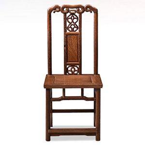 Chaises de Salle à Manger Comptoir de Cuisine Chaise Simple Sculpté Chaise Loisirs Rétro Robuste Facile à Nettoyer Chaise Convient Accueil Hôtel (Couleur : Marron, Taille : 45x43x103cm)