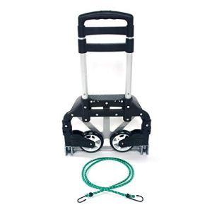 Chariot utilitaire en alliage d'aluminium avec cordons élastiques pour bagages, déménagement et bureau