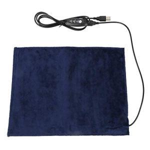 Coussin chauffant – Réchauffeur électrique en tissu BiuZi 5V2A USB Lit chauffant for animaux de compagnie Coussin chauffant for soulagement de la douleur rapide 24x30cm 45