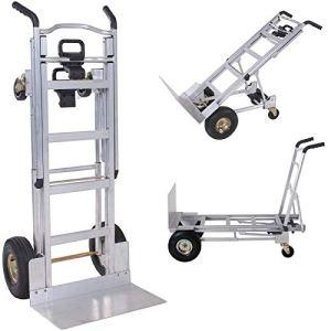 Diable multifonction 3 en 1 max 454 kg en aluminium – Chariot pliant pour transport à la main