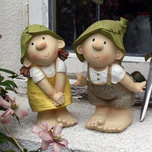 Elfes Lilly et Len, ornement de jardin, nains de jardin, jardin, fées, trolls, gnomes Standing 1