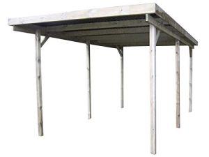 Gardenas Carport en Bois et Panneaux ondulés 3×6 m Basic