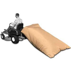 GoldCister Sac à Feuilles pour Tracteur, Sac à Feuilles pour Tracteur à Gazon Standard, Sac de Nettoyage de pelouse Plus Rapide (92 x 60 x 0,2 Pouces)