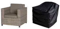 HBCOLLECTION Housse pour fauteuil de jardin taille medium gamme confort