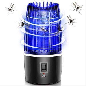 HZP 2020 Nouveau 2 dans 1 USB Rechargeable Mosquito Killer Lamp LED Bug Zapper Insect Killer Pest Repeller Camping Light Mosquito Trap