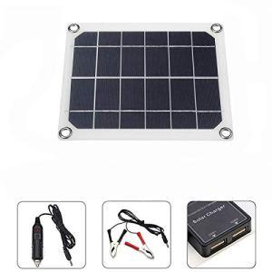 Jodie Bernol 12 à 18V 5W Panneaux solaires DC Double Interface USB de Charge Voyager Solaire Camping Panel RV générateur Accessoires