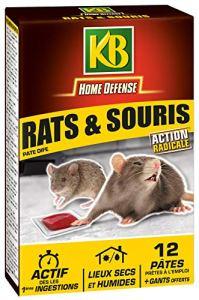 KB Pates Appat Anti Rats et Souris 120gr