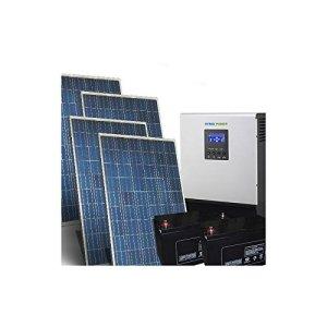 Kit Solaire Maison Pro 5Kw 48V Systeme Photovoltaique Off-Grid Batteries AGM