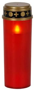 'Lanterne Funéraire LED «Serene flackernd Rouge env. 21x 7cm