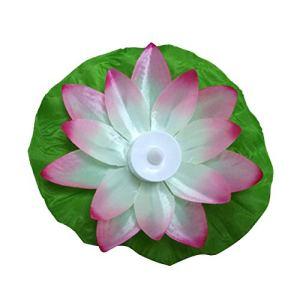 LED Artificielle Lotus coloré changé Lampes de Fleurs flottantes Piscine d'eau souhaitant des lanternes Lumineuses Partie Fourniture (Rose) FRjasnyfall
