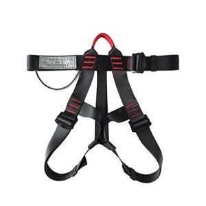 LIOOBO 1 pc ceinture de sécurité prcatical protection durable professionnel alpinisme fournir sangle de sauvetage ceinture de sécurité pour l'escalade en plein air