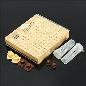 LMIAOM Boîte à cupkit d'élevage de reine + 110x outil pour apiculture Accessoires de bricolage