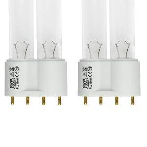 Lot de 2(W) 36W Lampe Ampoule UV PLL de remplacement pour filtre de bassin UVC