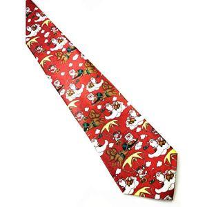 MachinYesell Cravate de Noël pour Femmes Hommes dans différentes Impressions Arbre de Noël Père Noël Bonhomme de Neige Elk Costumes Cravate Cadeau Parfait (Couleur: Multicolore)