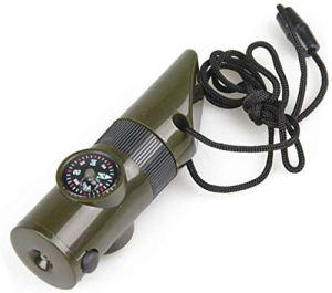 Mnjin Portable avec éclairage Compass Thermomètre Équipement d'extérieur