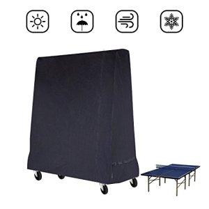 Mutsitaz Fittolly Table de Tennis de Table Housse Imperméable Couverture pour Table de ping Pong 165 x 70 x 185 cm Noir