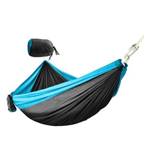 ODDINER Hamac Hamac Camping – Simple et Double Vitesse Hamacs for la Survie ou Voyage extérieur Backpacking Hamac Portable (Color : Black/Blue)