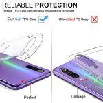 Oihxse Coque pour Realme 3 Pro, Etui en Transparente Silicone TPU 3D Protection Bumper Ultra Mince Cristal Housse avec Motif Fille D'Ete Mer Anti Choc Cover (A4)
