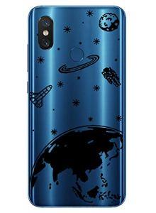 Oihxse Mode Transparent Silicone Case Compatible pour Xiaomi Redmi 8 Coque, Ultra Mince Souple TPU Mignon Animal Série Protection de Housse Anti-Scrach Bumper Etui -Planète
