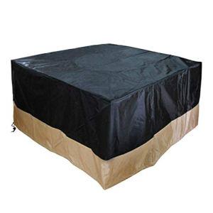 Onlyfire – Housses de Braséro/Table carré 106 cm, Couvercle Durable et résistant à l'eau, 42″L x 42″ W x 22″H