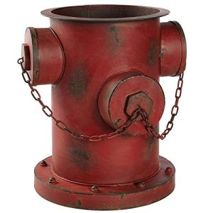 Pureday Flower Pot Pot Hydrant Shabby Chic Rust Optics Fer Environ 35 x 32 x 36cm Rouge