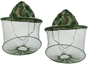 RUONIA Lot de 2 Casquettes Anti-moustiques et Anti-Insectes avec Filet de Protection du Visage pour extérieur