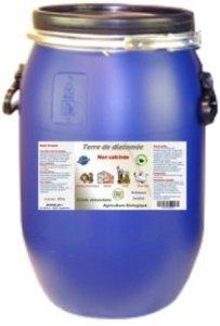 Terre de Diatomée 25kg Non calcinée/Alimentaire – Bidon Solide et réutilisable. Fermeture par cerclage Qui Garantie l'étanchéité.