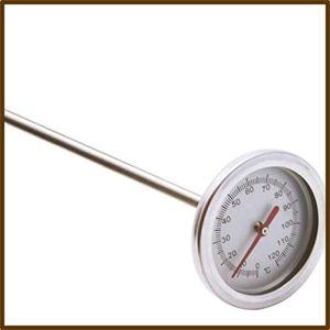 Thermomètre à Compost en Acier Inoxydable de qualité supérieure 50,8 cm