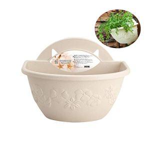 TUANTALL Décorations pour la Maison des Pots de Fleurs À L'intérieur Usine Accessoires Flottant Pot des Pots de Fleurs pour Balcon White