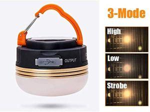 U & TE Lanterne Portable, USB recharge lampe torche LED, Portable Camp Lumière, Lanterne LED rechargeable Camping avec aimant de base et à intensité réglable, 3 Lumière Modes En cas d'urgence, l'ourag