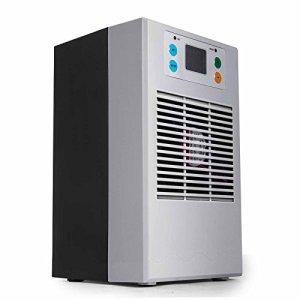 Ukiki Glacière d'aquarium de Climatiseur de Machine 3L par Minute Chauffage de Piscine 70W 20L Refroidisseur d'eau Portatif d'aquarium Garage Hôtel de Bureau