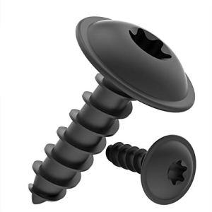 Vis à Tôle TORX tête bombée plate avec rondelle galvanisé noir: 4,2 x 16 mm, 100 pièces