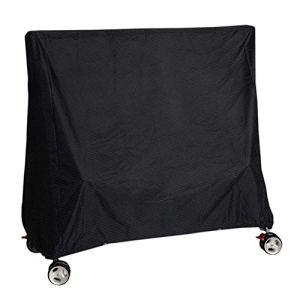 Vzesok Table de Tennis de Table Housse de Protection Bâche Imperméable Oxford Polyester Couverture pour Table de Ping Pong Noir 165 × 70 × 185 cm