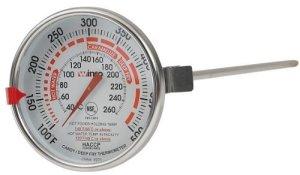 Winco «Dial profonde 3/Rose – 12–Thermomètre avec sonde Par Winco USA»