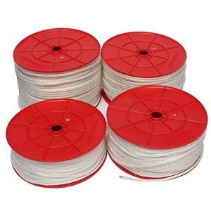 ZHFENG 100m Nylon Pull de démarrage Recoil Démarrer Cordon Corde for 4 mm 3,5 mm 2,5 mm Tondeuse à gazon 4.5mm Pièces détachées moto neuves (Size : Length 4.5mm)