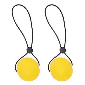BESPORTBLE 2Pcs Poignées de Main Balles de Renforcement Balles de Préhension des Doigts Exercice Boules de Compression avec Chaîne Petite Force Jaune