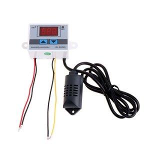 BIlinli 12V-220V Numérique Contrôleur De Contrôle D'humidité Commutateur Hygrostat Hygromètre Capteur