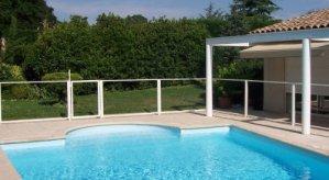 Chalet-Jardin Barrière de Protection pour Piscine Panneau Transparent 96 x 112 cm (x1)